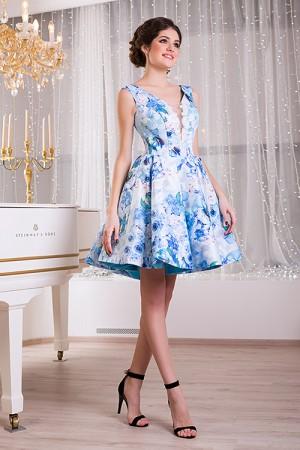 Blue Summer Floral Dress