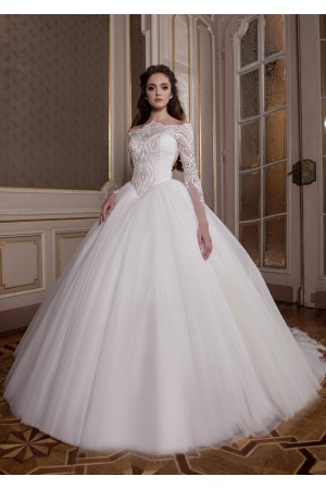 Off the Shoulder Wedding Dress with Sleeves