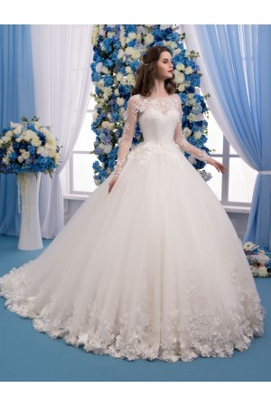 3d Flowers Wedding Dress
