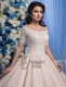 Lace Sleeve Ball Gown Wedding Dress