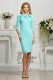 Aqua dress 3/4 sleeves mother daughter dress