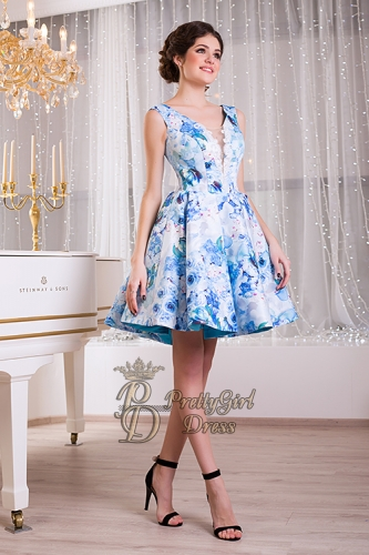 Blue Summer Floral Dress