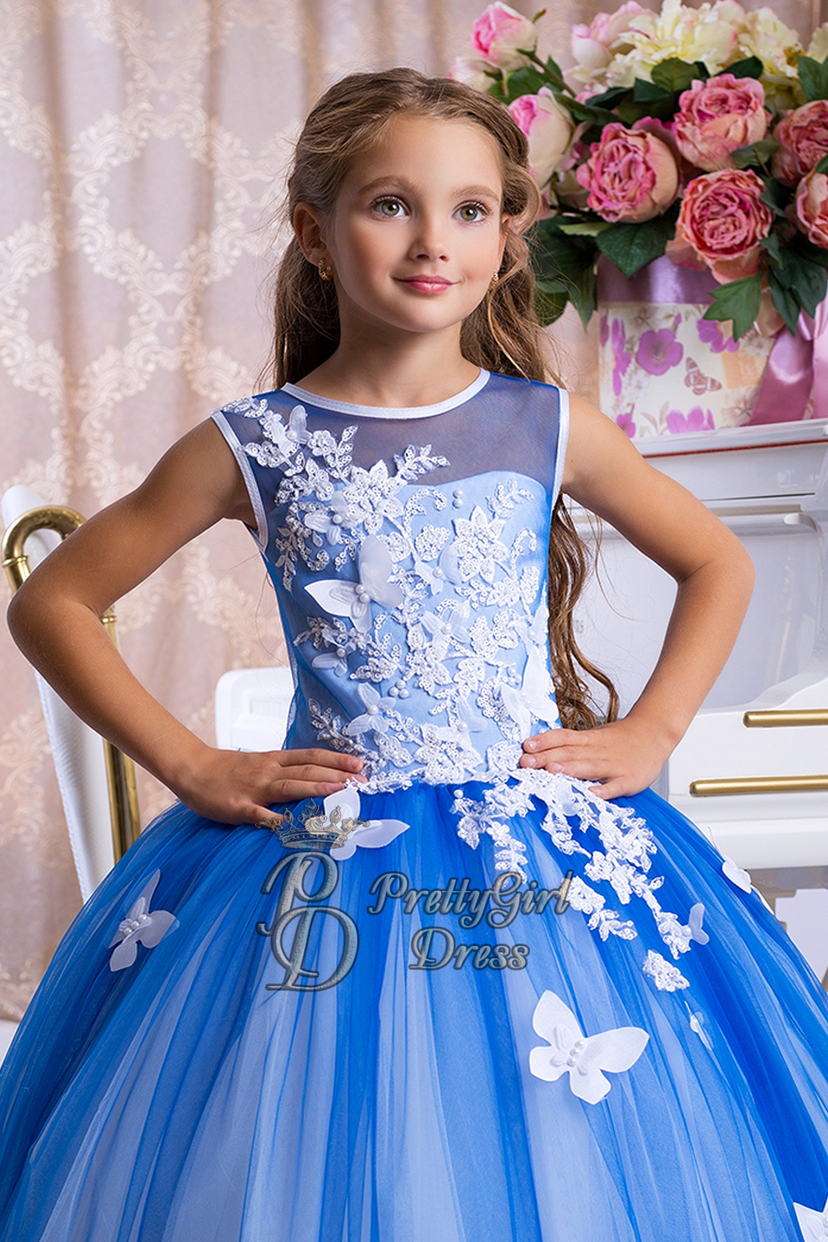 3d677b590 Royal Blue girl dress Baby Toddler Special Occasion - Thesia