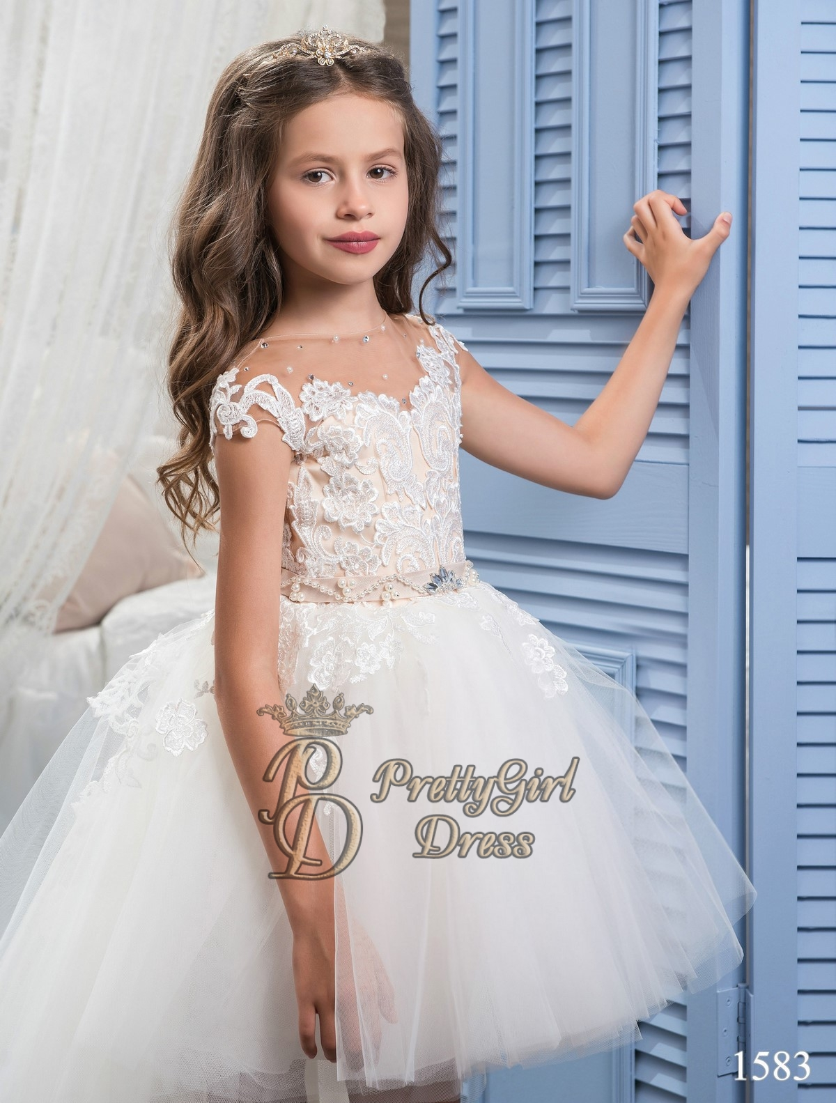 White Flower Girl Dresses With Train 89